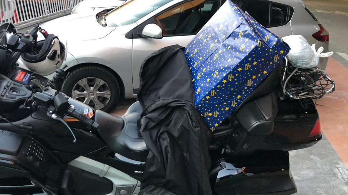 Moto taxi à Roissy : Les enfants aussi